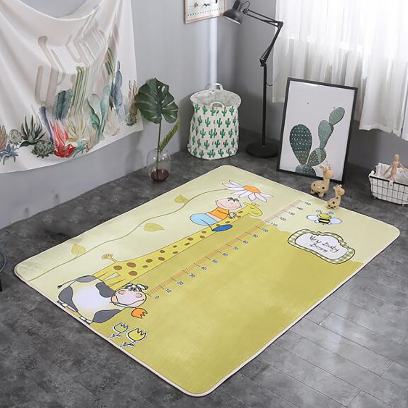 Infant Play Mets Carpet Baby Kid Crawling Mat Printing Cartoon Animal Mat Kids Rug Velvet Pad Non-slip Room Accessories BXX022