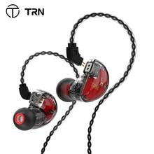 TRN V30 2BA 1DD الهجين في الأذن سماعة IEM HIFI Monito سماعة أذن تستخدم عند ممارسة الرياضة 3 محرك سماعات الأذن 2Pin انفصال TRN V80/IM1VX M10