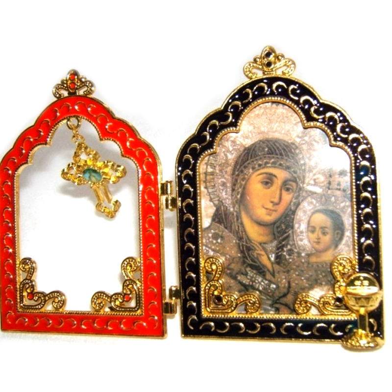 Jesus Virgin Mary Holy Family Screen Icon Decoration home Metal Temple Gate Imagenes religiosas catolicas Christian Gifts decor
