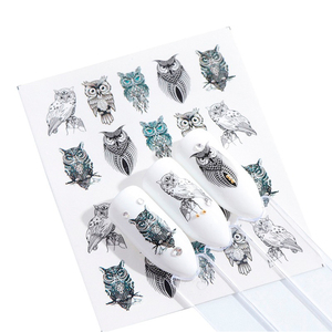 Image 1 - 1pcs Stickers For Nails Water Transfer Sliders Decor Flowers Colorful Image Nail Art DecalsFoil Wraps Manicure TRSTZ608 637 1