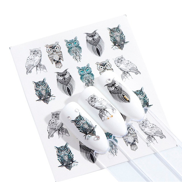 1pcs Stickers For Nails Water Transfer Sliders Decor Flowers Colorful Image Nail Art DecalsFoil Wraps Manicure TRSTZ608 637 1