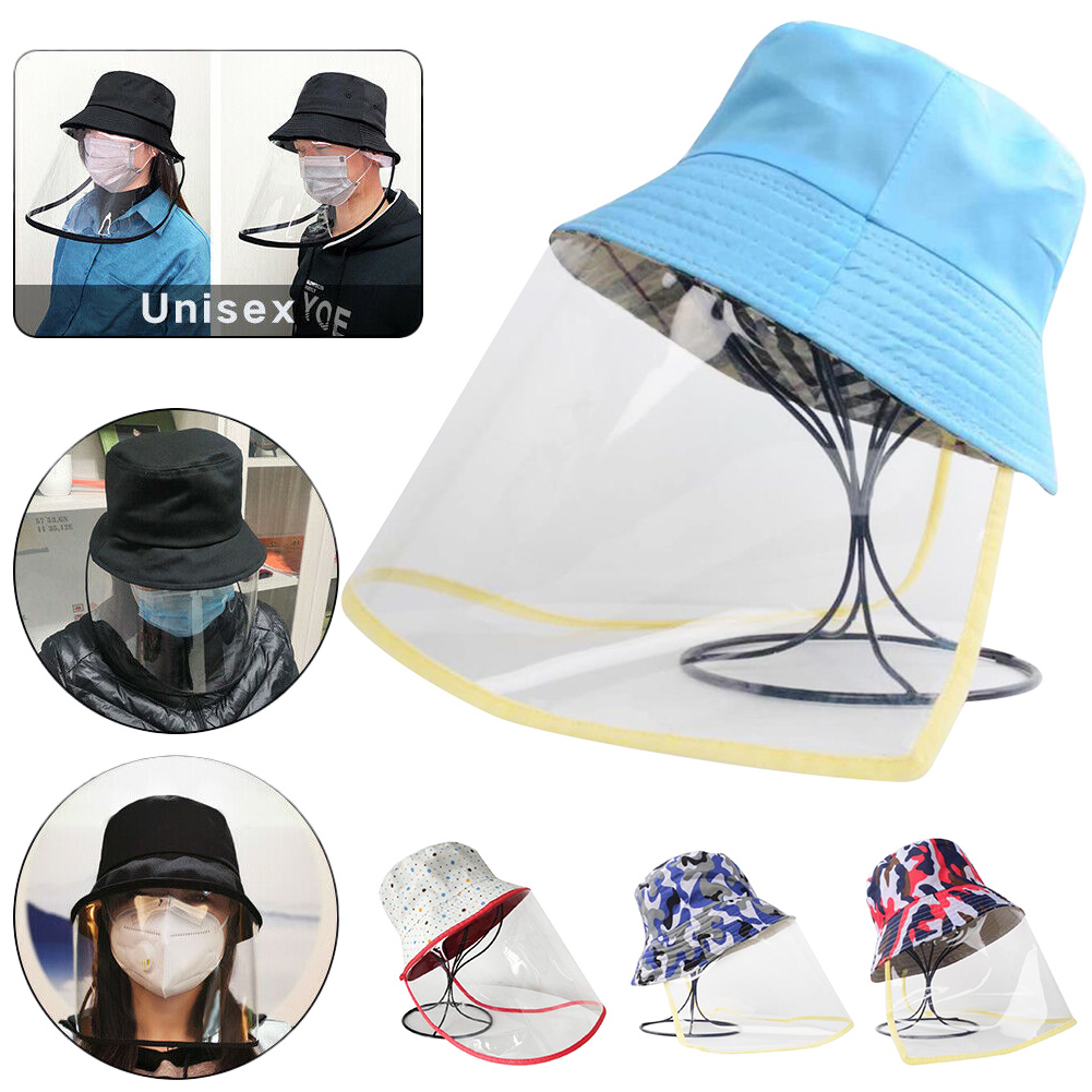 Anti-spitting Mask Protective Hat Anti-dust And Anti-fog Dustproof Fisherman Hats Baseball Hats With Transparent Face Cover