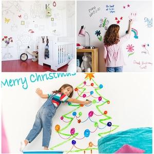 Image 4 - Hold magnets Adhesivo de pared de pizarra blanca para oficina, pizarra blanca de escritura para pared, decoración del hogar, tablero Drwaing para Aprendizaje de chico grazhii