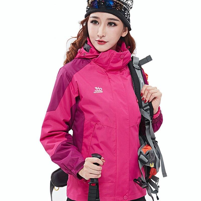 Winter Jacket Women Outdoor Snowboard Jackets Thicken Warm Fleece Snow Ski Jackets Outdoor Windproof Waterproof Hiking Jackets