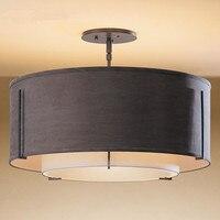 Estilo chinês led simplicidade arte tecido lâmpada do teto moderna sala de jantar lâmpada quarto romântico luz frete grátis