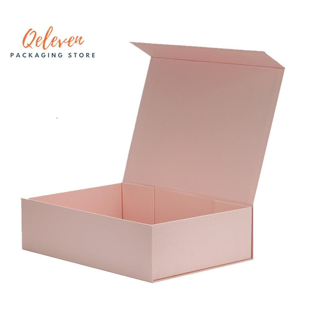 Wholesale 10Pcs/Lot Plain Paperboard Folding Rigid Box Magnetic Closure 3 Colors Available Packaging Hair Wigs Cosmetic Gift Box
