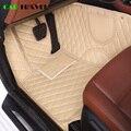 Кожаный Автомобильный коврик под заказ для hyundai santa fe getz tucson ix25 ix35 creta elantra kona i30 кожаные коврики для всех моделей автомобилей