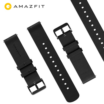 Original Leather Watch Strap for Xiaomi Huami Amazfit GTR (47mm & 42mm) & Pace Stratos Smart Sport Watch 1 2 2S 3 Bip & Bip Lite