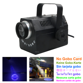 AUCD 30W 50W Focal  LED Adjustable Logo Ad Projector Lights Beam Show Zoom Advertising Gobo Lamp Cafe Store Shop NO Pattern Card