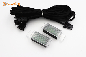 2 sztuk z LED Footwell światła kroki przestrzeń lampy i kabel do golfa 7 MK7 Passat 3G B8 5GG947409 5GG 947 409 5G0947409 5G0 947 409