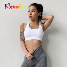 Women Sport Bra Top Mesh Hollow Out Breathable Yoga Sports Fitness Shockproof Running Underwear Gym Push Up Bras Tank
