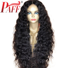 PAFF 13*4 Loose Deep Wave Lace Front Human Hair Wigs Glueless With Baby Hair Brazilian Remy Hair Wig Pre Plucked Middlle Part цена
