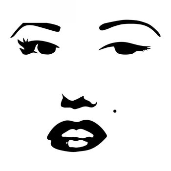 Car Stickers Marilyn Monroe Face Fashion PVC Car Decoration Accessories Decals Creative Waterproof Black/white,17cm*15cm