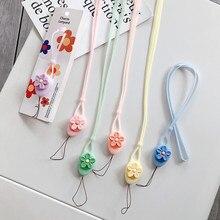 Einfache Blume Lanyard Anhanger Seil Handige Schmuck Personlichkeit Weibliche Modelle Hangen Hals Hangen Handige Lanyard
