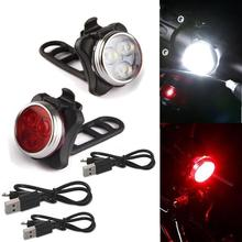 Cycling Flashlight Bicycle Bike LED Head Front With USB Rechargeable Tail Clip Light Lamp Lantern Bicycle Accessories все цены