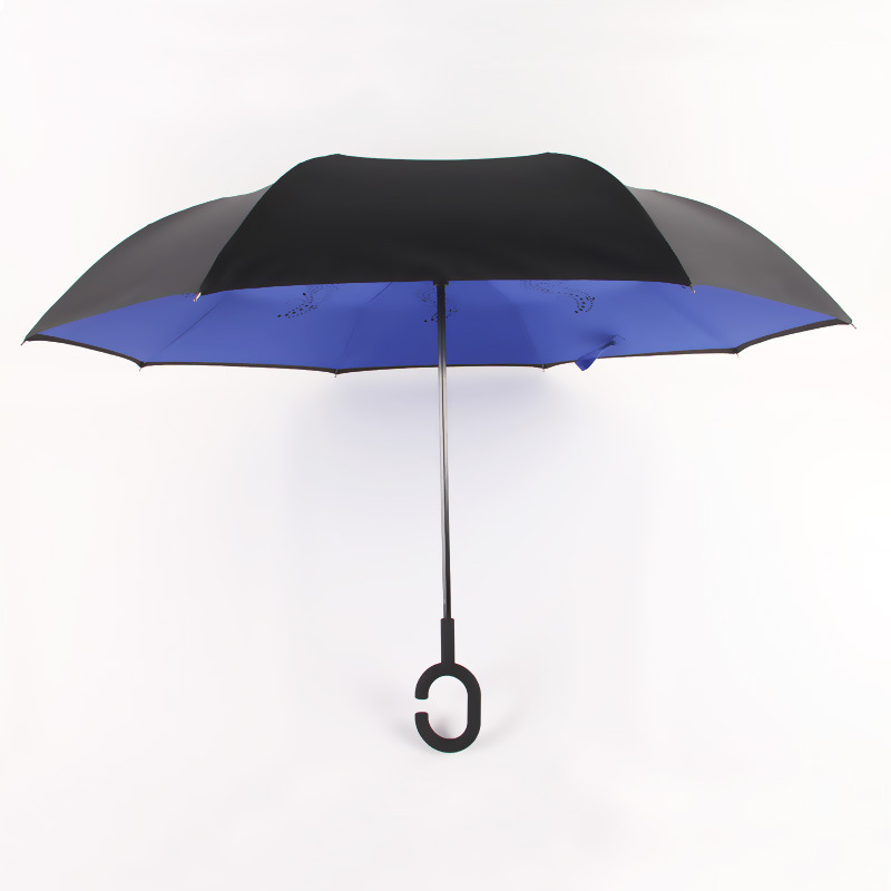 Aurora Factory Advertising Umbrella Customizable BM1617 Double Layer Hands-Free Reverse Umbrella Sun-resistant Parasol All-Weath