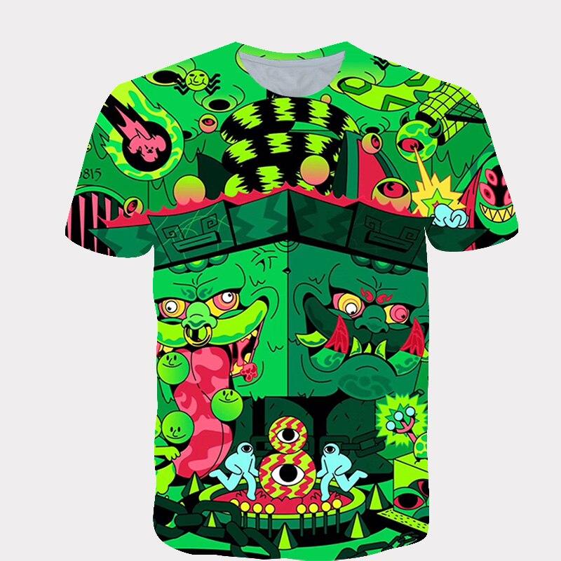 ¡Novedad de 2020! Ropa de verano para niños y niñas, camiseta de manga corta con estampado de dibujos animados en 3D, camiseta de Hip hop para niños, 4T ~ 4T|Camisetas|   - AliExpress