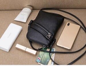 Image 3 - women shoulder messenger bags female Brand crossbody bag small purses and handbags designer ladies Genuine Leather bag