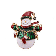 2019 Sale Rushed Tin Alloy Casual/sporty Brooch Pin Broche Aureate Christmas Snowman Ornaments In Europe And America Gift