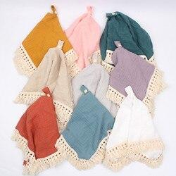Bebê calmante toalha de algodão segurança reconfortante cobertor bebê chupeta clipe recém-nascidos musselina conforto infantil apaziguar pano arroto