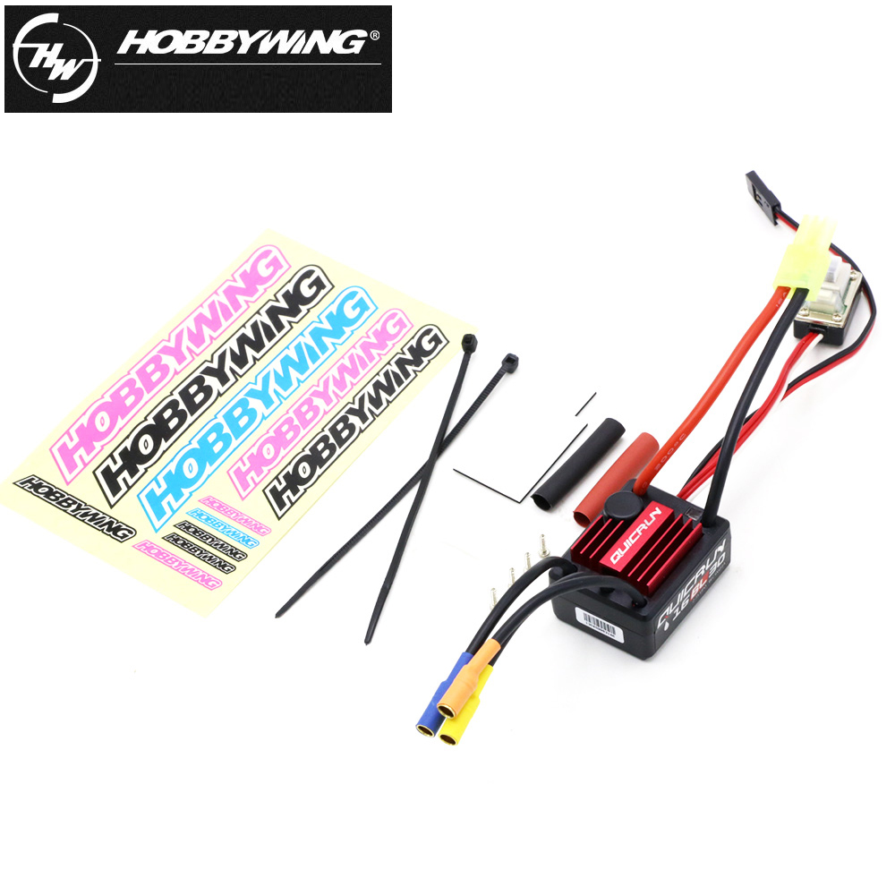 Image 2 - Hobbywing QuicRun WP 16BL30 Brushless Speed Controller/30A ESC+2435 4500kv Motor For 1/16 & 1/18 RC Car30a escprogram cardbrushless speed controller -