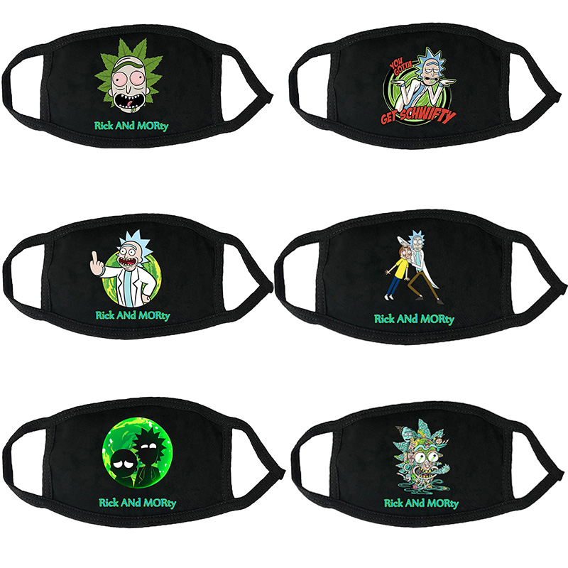 Anime Rick And Morty Mascarillas Mask Cosplay Costume Accessories Unisex Maske Cartoon