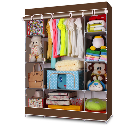 DIY wardrobe Non-woven fold Portable Storage furniture When the quarter Cabinet bedroom furniture wardrobe bedroom wardrobe