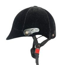 Полупокрытый шлем для верховой езды лошадь жокейская шапочка Конный Регулируемый для 54-60 см окружность головы лошадь безопасности оборудования