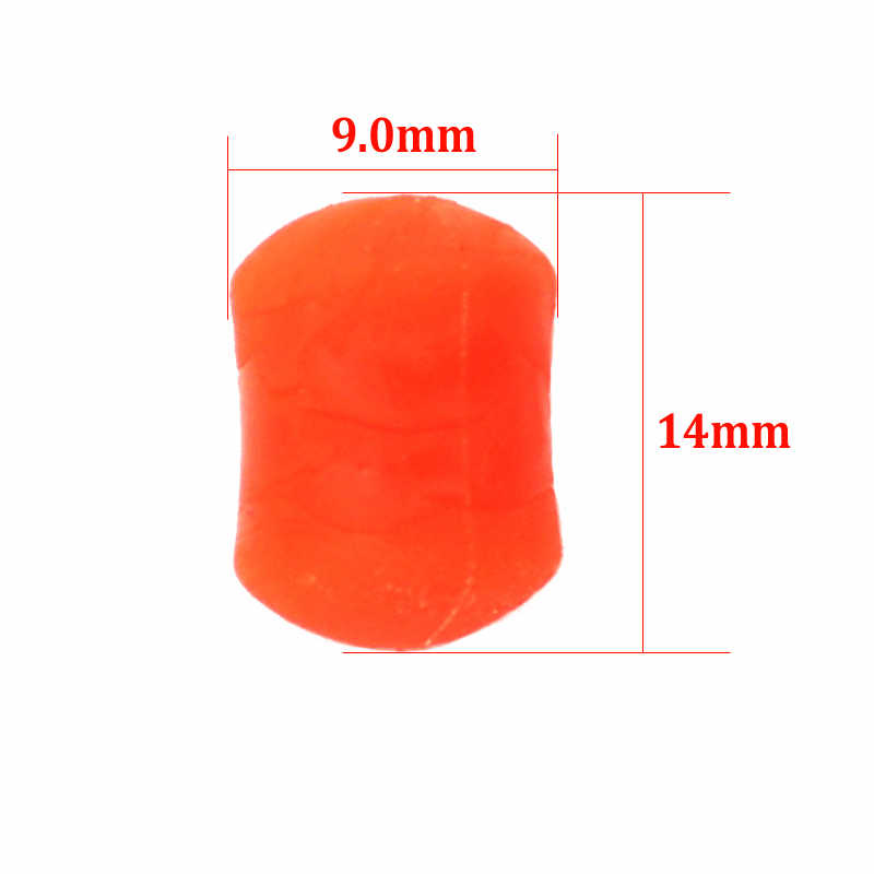 FLURO ORANGE /& YELLOW BOILIE STOPS WITH SMALL HOOK CARP FISHING