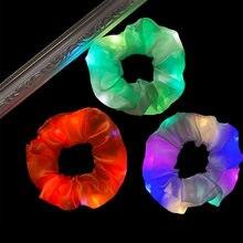 Резинки для волос женские Однотонные эластичные со светодиодсветильник