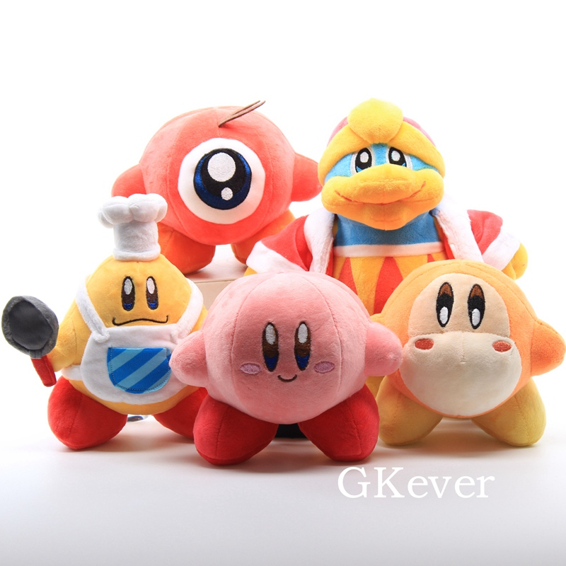 16 Styles Kawaii Kirby Plush Toy Lovely Pink Kirby Game Anime Character Doll Peluche 9-14 cm New Arrivals Women Kids Gift image