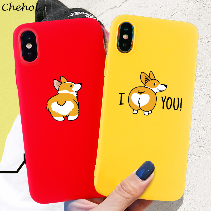 Corgi Phone Cases For IPhone 11 Pro 6s 7 8 Plus X XS MAX XR Case Funny Cute Dog Soft Silicone TPU Candy Back Covers Accessories