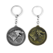 Game of Thrones Keychains House Stark Wolf Pendants Key Chains A Song Of Ice And Fire Targaryen Dragon Keyring Souvenirs Gift newest movie jewelry game of thrones key chain house stark targaryen keychain keyrings gift jewelry