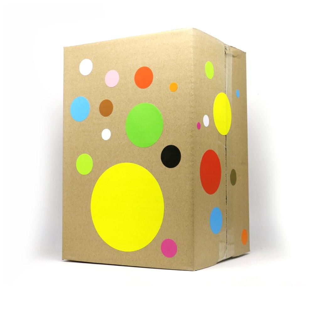 50mm gravável diy adesivos multicolorido adesivo caixa