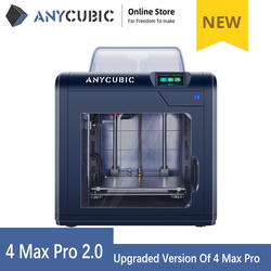 3D Printer 2020 New Anycubic 4Max Pro 2.0 Upgraded Design Large Build Volume 270*210*190mm Closed Printing No Noise impresora 3d