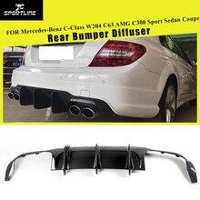 Задний бампер диффузор спойлер для Mercedes-Benz c-класс W204 C63 AMG C300 Sport Sedan Coupe 2009- углеродное волокно/FRP