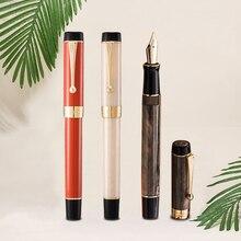 New Jinhao Centennial Resin Mittlere Feder Fullfederhalter Braunrot Fountain Pen Fountain Pen Pens School Office Supplies Gift