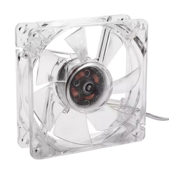 USB Computer PC Fan 80mm With LED 8025 Silent Cooling Fan 5V LED Luminous Chass Computer Case Cooling Fan Mod Easy Installed image