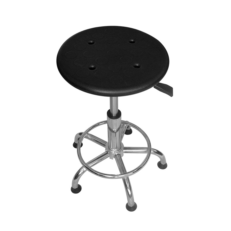 AVIT Manufacturers Wholesale Laboratory Round Stool Workshop Anti-static Work Chair Pneumatic Height Adjustable Stainless Steel