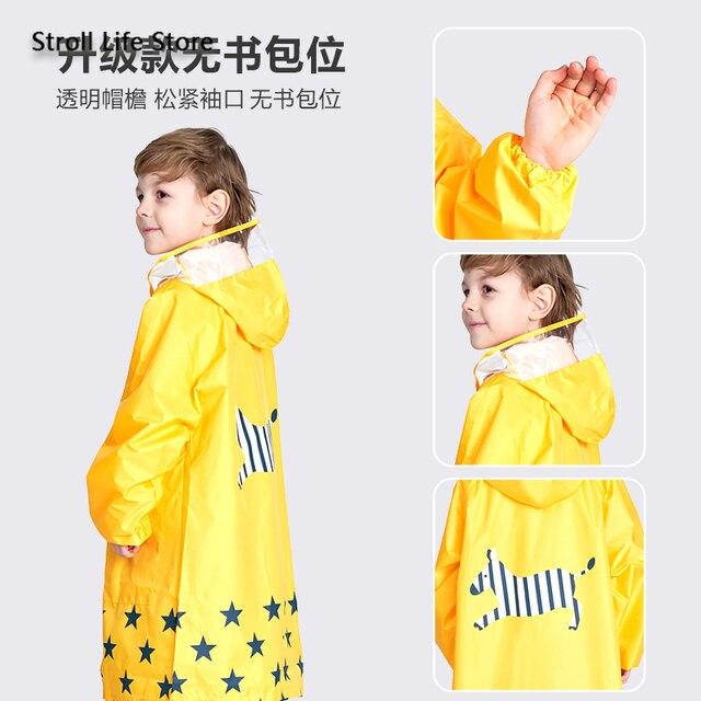 Girl Thickened Rain Coat Kids Yellow Rain Poncho Boy Cute Children Raincoat Rain Jacket Partner Waterproof Suit Impermeable Gift 3