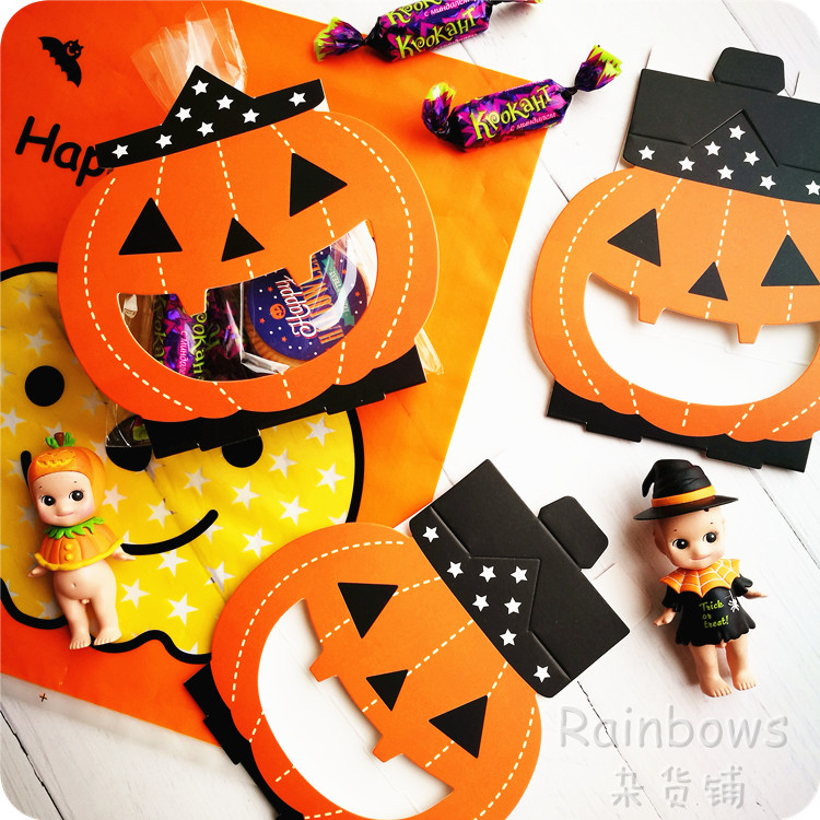 8pcs Halloween party decoration pumpkin ghost candy box biscuit candy bread bag home props supplies children gift candy box image