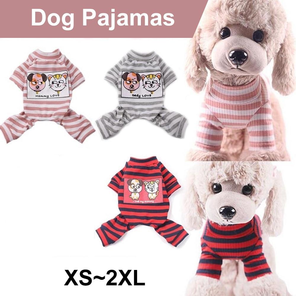 PAPASGIX Dog Coats Clothing French Bulldog Chihuahua Puppy Knitted Coat Pet Apparel Pet Dog Clothes Striped Dog Jumpsuit Pajamas