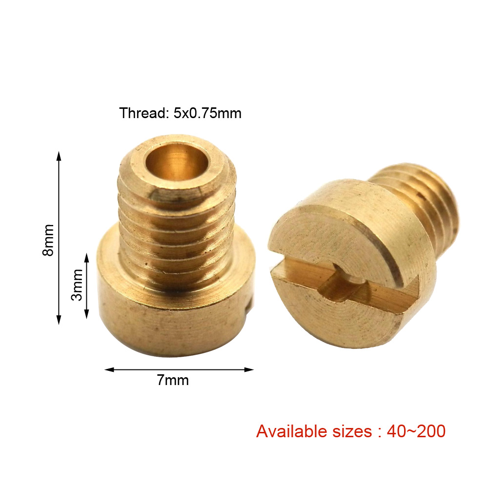 CARBURETTOR BRASS JET FOR DELL/'ORTO CARB SIZE 115