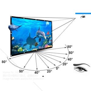 Image 5 - AUN zagęścić ekran projektora 100/120/133 cal 16:9 składany przenośny biała tkanina materiał dla 4K Full HD kina domowego