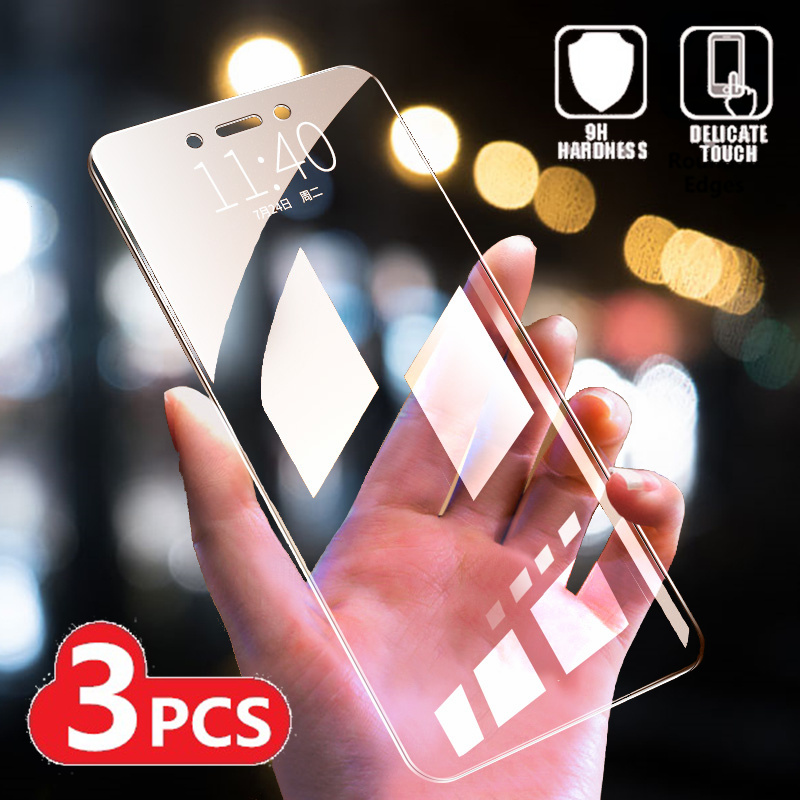 3PCS Tempered Glass For Xiaomi Redmi Note 5 5A 6 7 Pro Global Version Screen Protector For Redmi 5 7 7A 6A 6 Pro Protective Film