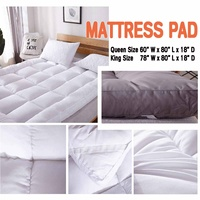 Mattress Pad Queen/King Size Quilted Topper Cover 16 Deep Fitted Bed Sheet Comfortable Soft Ergonomic 10cm Thick High Quality