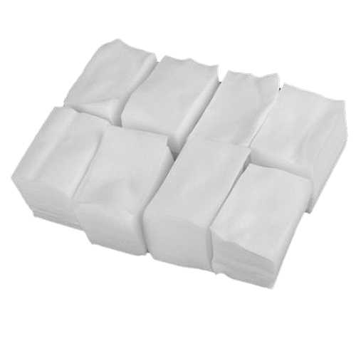 900pcs White Lint Free Nail Art Wipes Paper Pad Gel Acrylic Tips Polish Remover Cleaner(6cm x 5cm)