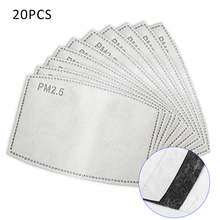 40 PCs Breathable PM2.5 Filter Paper Anti Haze Mouth Mask Outdoor Anti Dust Mouth Cover Drop Shipping
