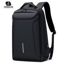 Fenruien 브랜드의 새로운 배낭 방수 옥스포드 USB 충전 배낭 17 인치 노트북 가방 남자 여행 배낭 대용량