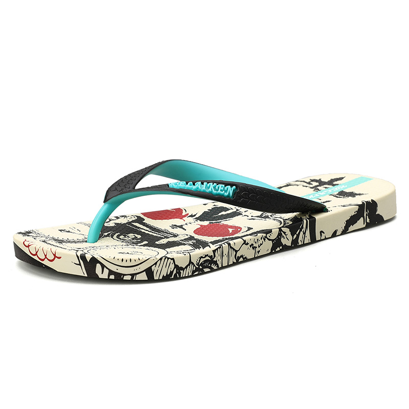 H619f1e9f0d1b4cf0b13cc5b846639bc32 - VESONAL Summer Graffiti Print Slippers Men Shoes Flip Flops Slipers Male Hip Hop Street Beach Slipers Casual Flip-flops